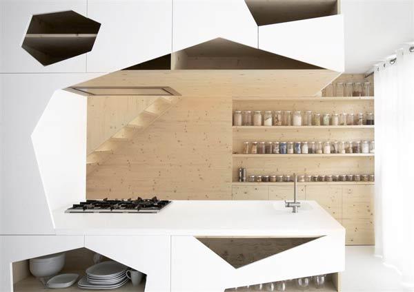 استفاده از اشکال هندسی در طراحی دکوراسیون آشپزخانه جدید
